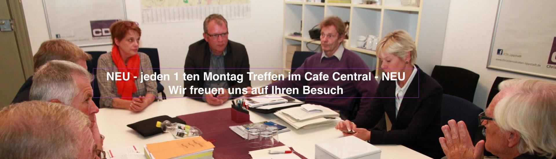 Wir laden Sie ein uns zu besuchen! Jeden Montag im Stadtpalais oder jeden ersten Montag im Monat im Café Central zur gemütlichen Diskussion